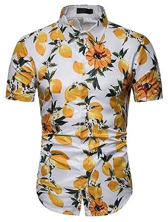 GRMO Camisa de Manga Corta con Botones para Hombre, diseño de ...