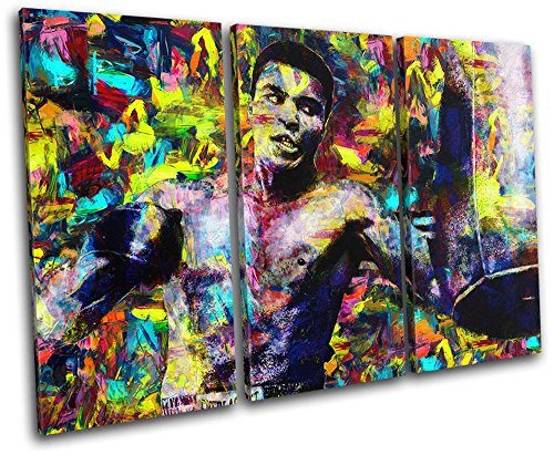 Bold Bloc Design – Muhammad Ali Pop Iconic Celebrities 150x100cm TREBLE Canvas Art Print Box Framed Picture Wall Hanging – Hand Made In The UK – Frame…