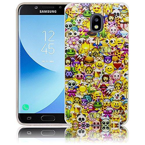 Samsung Galaxy J5 2017 Comic Haha Funda protectora de silicona Funda protectora suave Funda protectora contra el parachoques Funda protectora para teléfono móvil Funda protectora para teléfono móvil F Emoji SonreírSonreíry