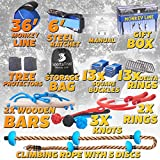 Ninja Slackline Monkey Bars Kit, 42'' Jungle Gym
