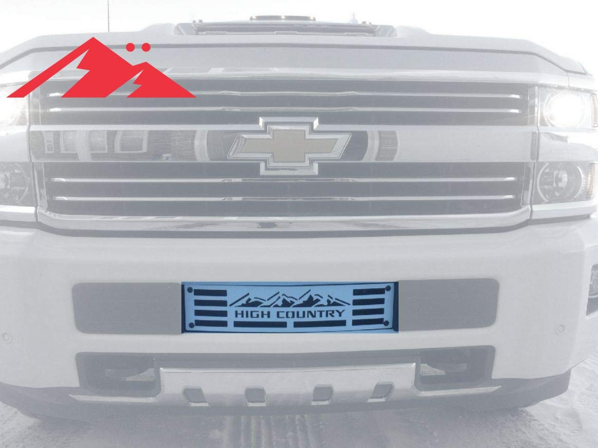 Mountains2metal High Country White Edition Bumper Grille Insert Compatible With Chevy Silverado 2015 2019 2500 And 3500 Part 400 130 1 W
