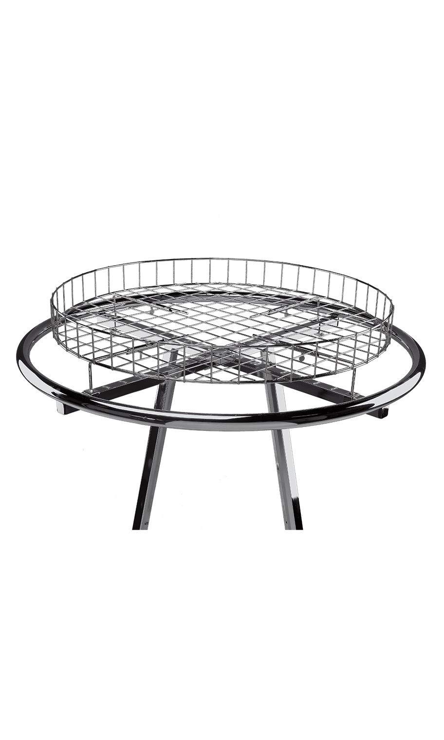 SSWBasics Wire Basket Round Clothing Rack Topper (30 ½ inch Diameter)