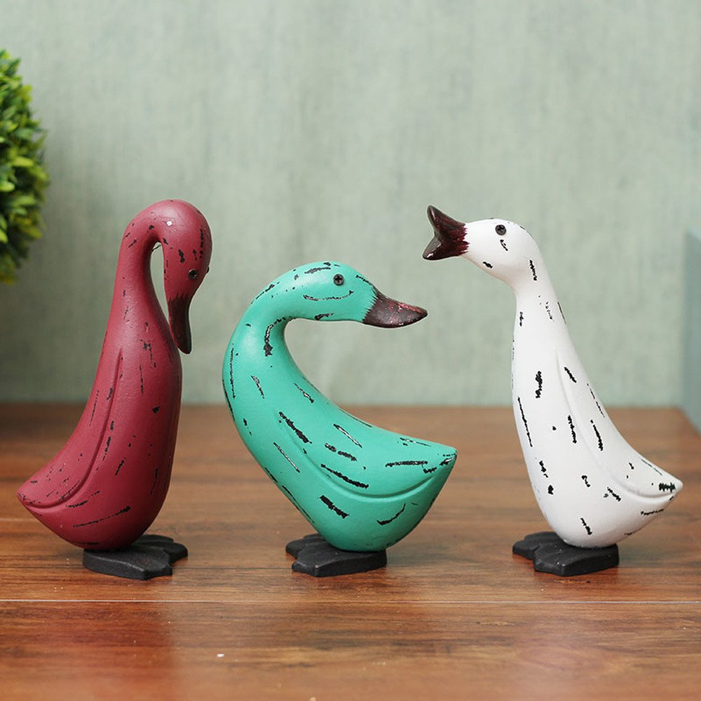 BWLZSP 1 SET(3pcs) Nordic country style duck three-piece home accessories living room shelf TV cabinet window decoration gifts AP5291656 (Color : B)