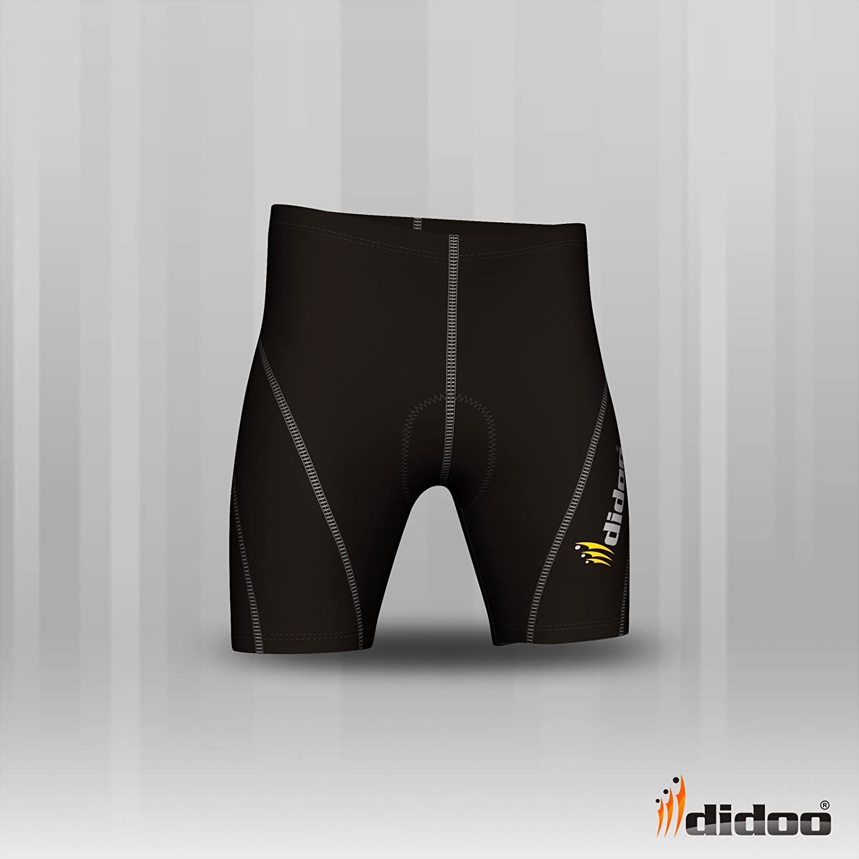 Didoo mens Cycling Shorts gel padding bike pants body Armour skin tight nicker