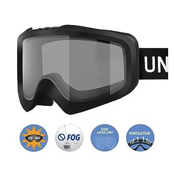 3ae451244f Unigear Gafas de Esquí OTG Esquiar Protección UV 400 Snowboard Revo Lentes  Doble Anti-Niebla Anti-Reflejo de Nieve para Adulto Mujer Hombre:  Amazon.es: ...