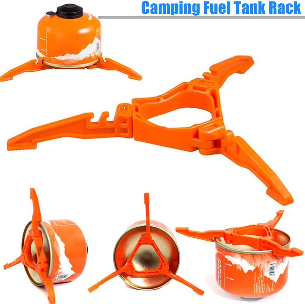 ZREAL Fuel Canister Stand Portable Tripod Fuel Can Stabilizer para Camping Stove Accessories