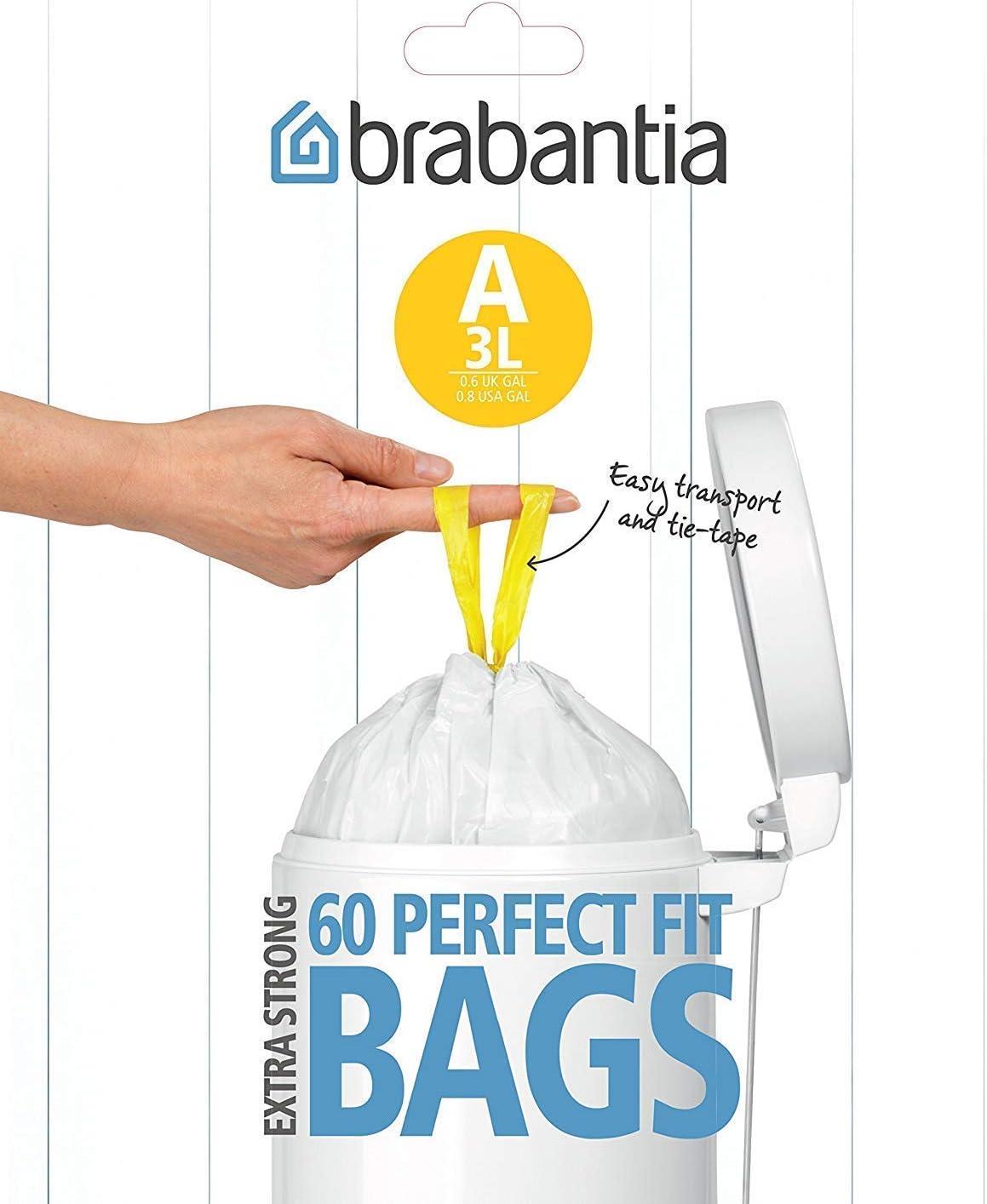 Brabantia Expendedor Bolsas de Basura 3 L, Blanco: Brabantia ...