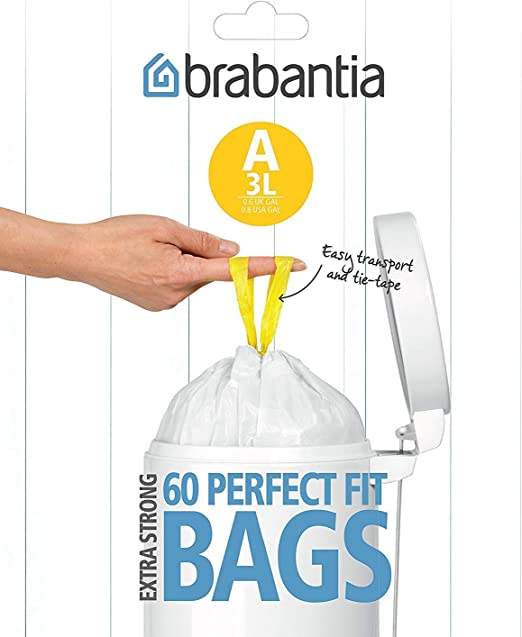 Blanco Brabantia B Expendedor Bolsas de Basura 5 L