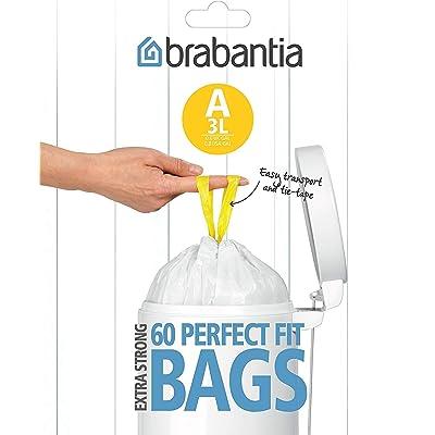 Brabantia Expendedor Bolsas de Basura 3 L, Blanco