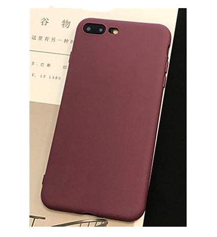 Amazon.com: Funda para iPhone 5S Se Candy de color rojo vino ...