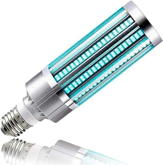 Remote Control Third Gear Timing 2 PACK-2020 Newest UV Germicidal Lamp 60W UVC Light Bulb Sterilizer Portable LED Sterilizer E27 Ozone Free