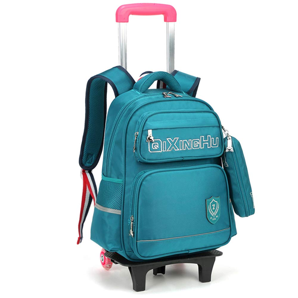 Green2wheels SHINING KIDS Trolley Bag Primary School Student With Wheels Backpack Can Climb Stairs