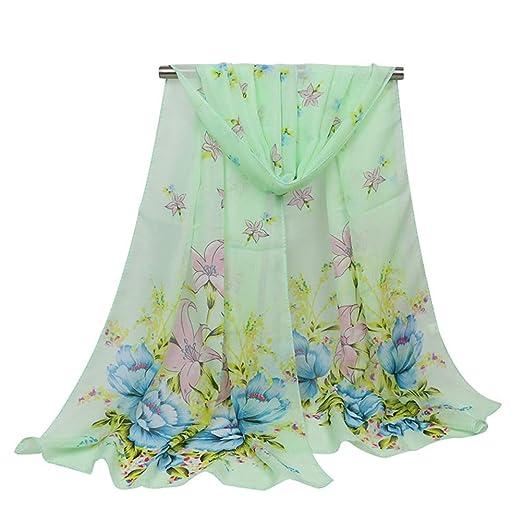 4098c437ba60d Spring 2019 New Printed Woman Chiffon Scarf, Shawl, Flower Scarf ...