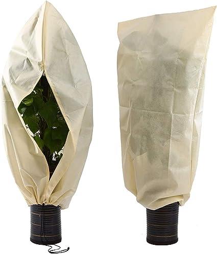 2,4 x 7,3m 30g//m/² Couverture Hiver Plantes Housse de Protection Plante, Housse Plante Hiver Contre Le Gel Voile hivernage Horsande Housse De Protection pour Plantes