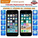 iONiQ Tempered Glass Screen Protector With Installation Kit for iPhone 5 / iPhone 5S / iPhone 5SE