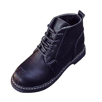 Botas, Manadlian Botines de mujer Zapatos con cordones Tacones bajos Bota de otoño (EU:37, Negro): Amazon.es: Electrónica