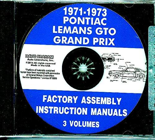 1971 1972 1973 Pontiac Assembly Manual CD Lemans GTO Grand Prix Grand Am Factory