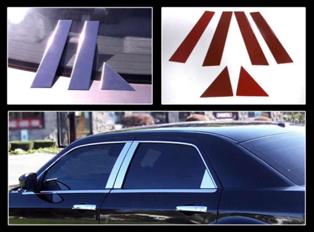 PerfecTech 2005-2010 Chrysler 300//300C and 2005-2008 Dodge Magnum Door Pillar Posts Trim Covers Kit