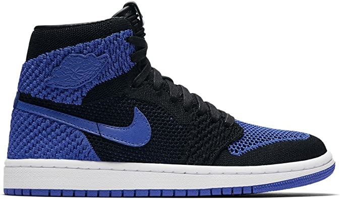Amazon Com Jordan Air Retro 1 High Flyknit Black Royal Blue Basketball