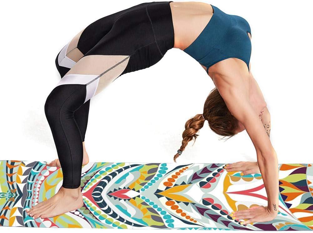 pour Transporter Et Lavage HELLOO HOME Tapis De Yoga Chin Mudra Tapis Dexercices De Yoga Antid/érapant Tapis De Yoga De Voyage