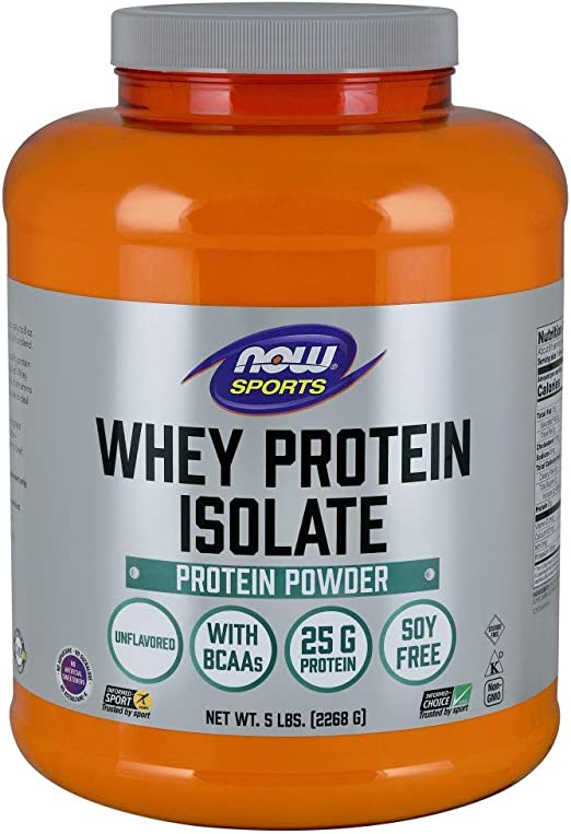 100% Pure Whey Protein Isolate - Natural Unflavored 5 lbs