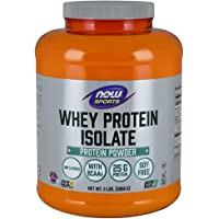 Now Foods Sports, Whey Protein Isolate, Natural Unflavored, 2.2kg