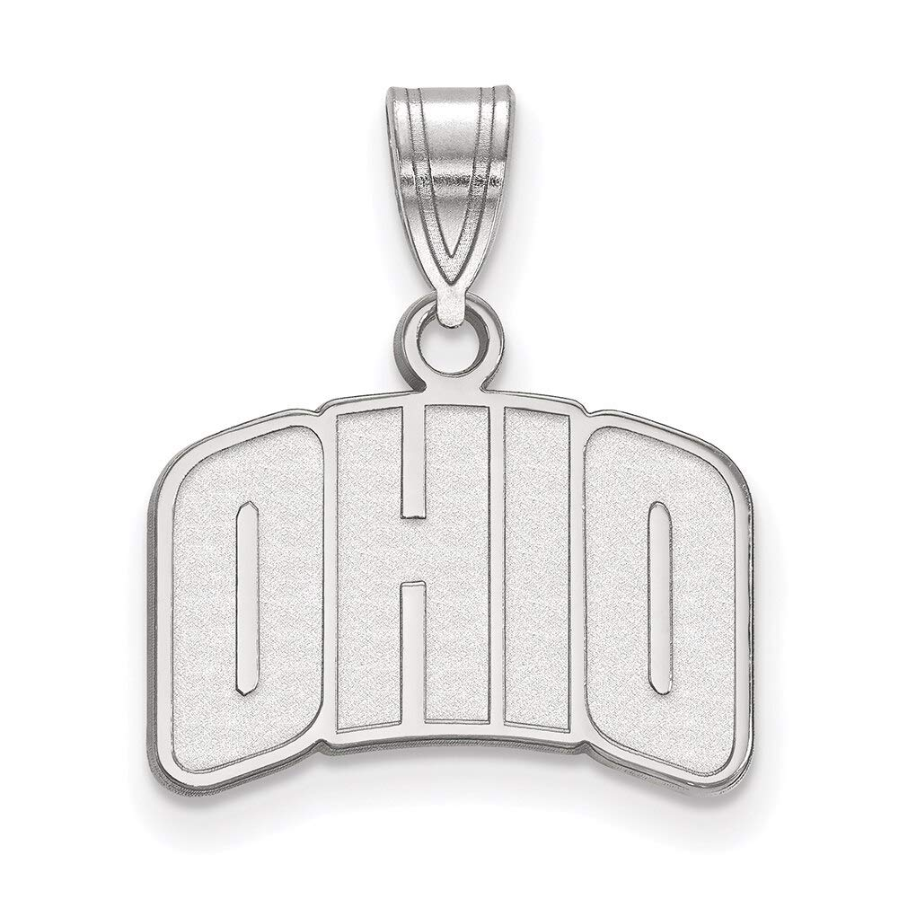 Lex /& Lu LogoArt Sterling Silver Ohio University Small Pendant LAL146274