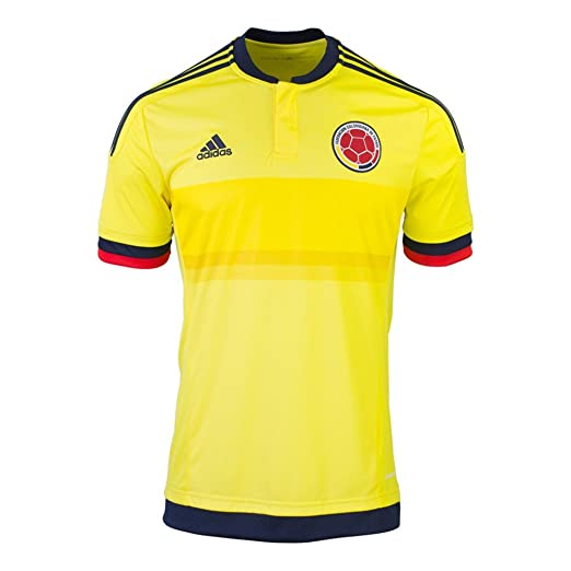 8844c2901 Amazon.com: adidas Colombia Home Soccer Jersey, Yellow/Navy: Clothing