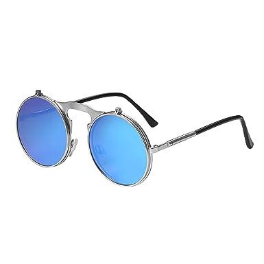 Aroncent Gafas de Sol Steampunk Mujer Polarizado Hombre ...