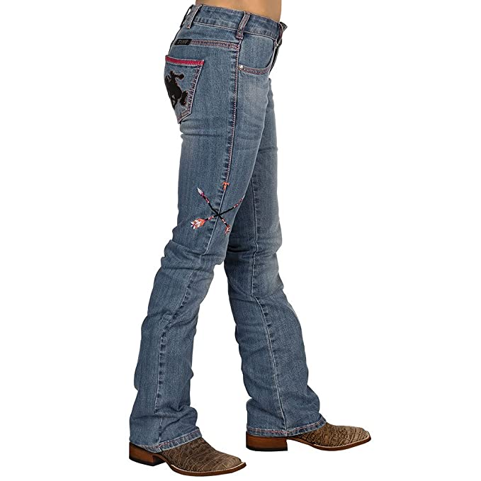 ab07f89ae Cowgirl Tuff Ladies' Wild & Wooly Extreme Jeans Denim at Amazon Women's  Jeans store