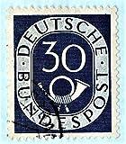 Used %281951%29 German Postage Stamp %2D