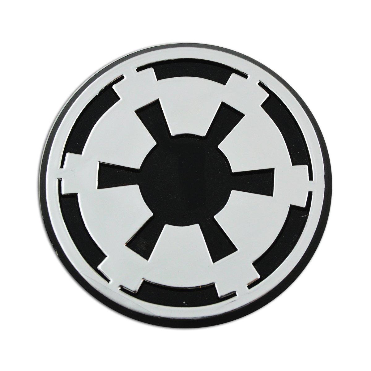 3 x 3 EvolveFISH EF-EMB-P-00075 Rebel Alliance Logo Chrome Auto Emblem