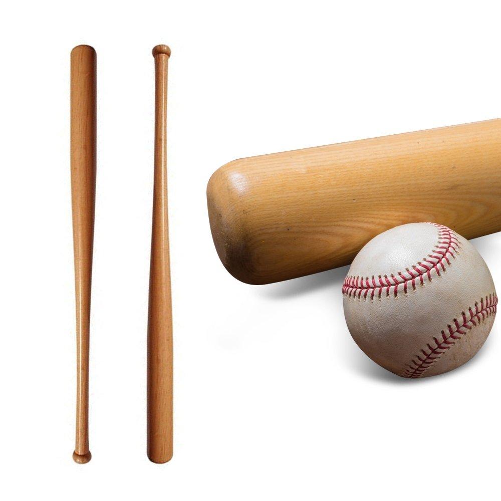 Batte de Baseball en Bois Naturel Robuste /& L/ég/ère Loisir Pour les Sportifs Oramics
