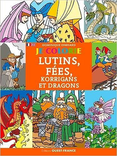 Livres JE COLORIE LUTINS, FEES, KORRIGANS ET DRAGONS (FR-GB) pdf epub