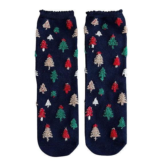 OverDose Ropa Calcetines De Invierno De Navidad Impresos Casual Mujeres AlgodóN Confort Calcetines Lindo Animal Alce
