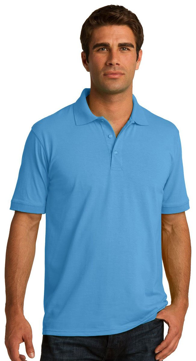 Port /& Comapany Mens Big And Tall Knit Polo Jersey/_Deep Navy/_X-Large Tall