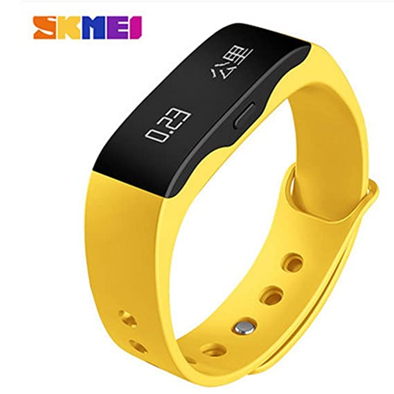 Skmei Ultra-thin Smart LED reloj Podómetro, multi-función reloj Digital DEPORTE Fitness, gimnasio Running Smart on-the-Go con pulsera, pulsera podómetro de ...