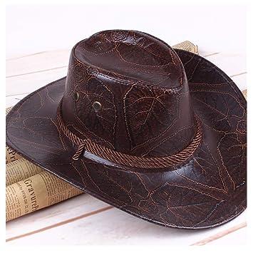 Sombreros de Moda, Hermosas Gorras Primavera y Verano Hombres Mujeres Sombrero Viento Americano Great Western Cowboy Hat Cuero Caballero Sombrero Exterior ...