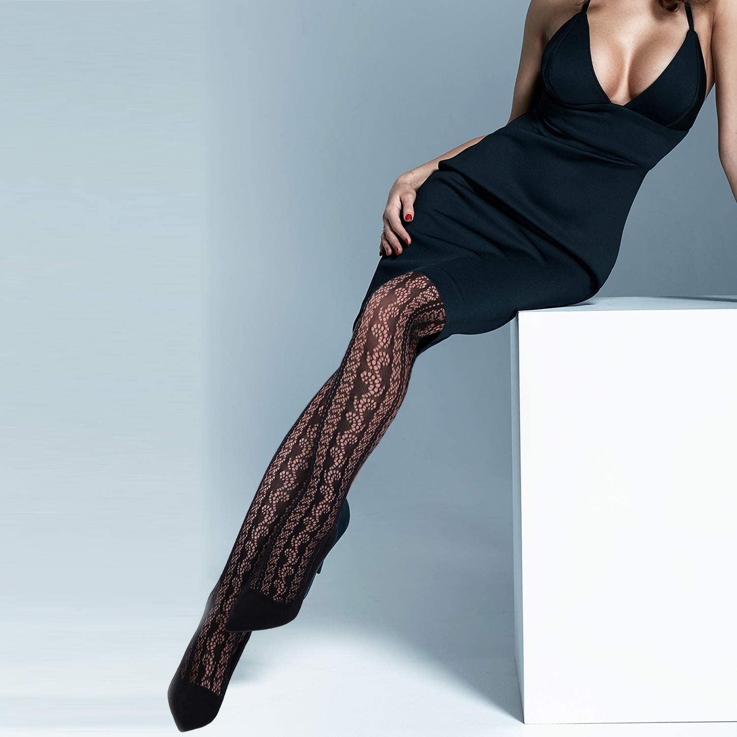 6 Pairs Women Suspender Pantyhose Stockings Valentine's Day Fishnet Tights Stretchy High Stockings for Dress up Favors at  Women's Clothing store