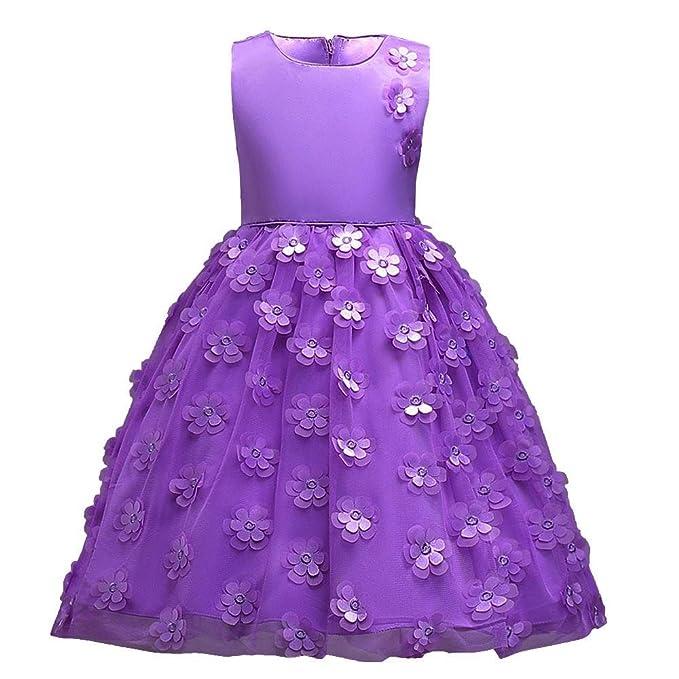 Goodlock children Kids Fashion Dress Girls Flower Princess Bridesmaid  Pageant Tutu Tulle Gown Party Wedding Dress f9189d12a01b