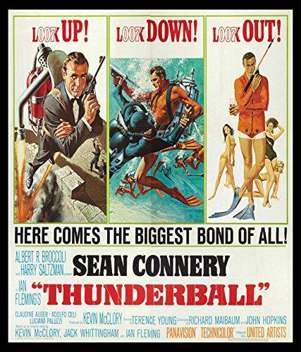"11""x14""Decoration Poster.Thunderball 007 movie.James Bond."