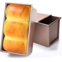 Baking Toast Pan, JUSTDOLIFE Loaf Pan Aluminum Alloy Bread Baking Mold Kitchen Baking Mold Toast Box with Lid for Home Kitchen Baking