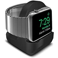 AWINNER Compact Stand Compatible with iWatch Series 4,Series 3, Series 2, Series 1 - Nightstand Mode Compatible - Support Stand with Integrated Cable Management Slot (38mm & 42mm Compatible) (Black)