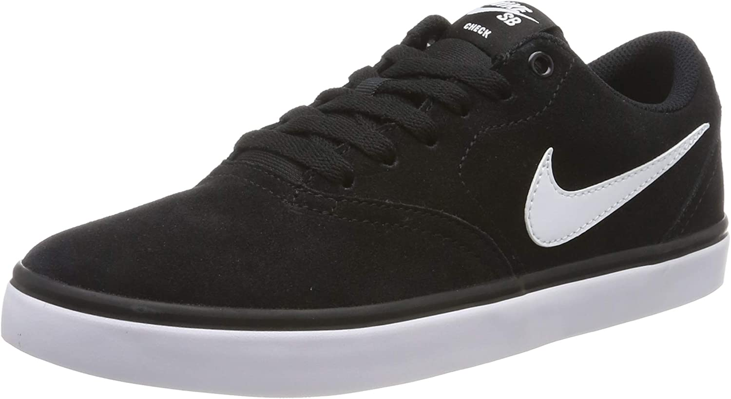Nike Men s SB Check Solarsoft Skate Shoe Black White