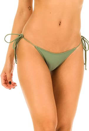 COQUETA Bathing Suit Swimsuit Women BIKINI BOTTOM  TOP SET Royal Tie Side New