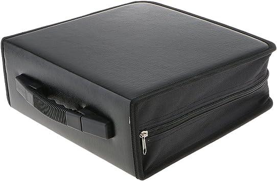 Sharplace Caja Maleta para 400 Discos de CD DVD de Cuero PU ...