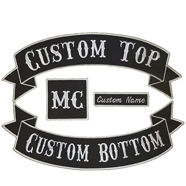 SCOOTER Patch CLUB LOGO BIKER Embroidered Name Tag MCC. Personalised