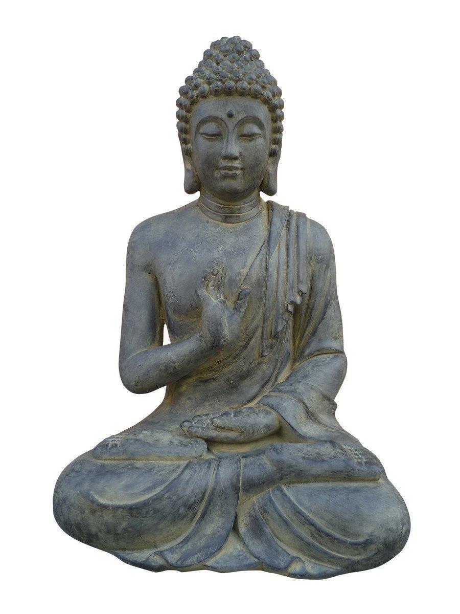 Figur Buddha sitzend mt Handgeste - für Haus und Garten Garten Garten - Höhe 73 cm - schwarz c0799f