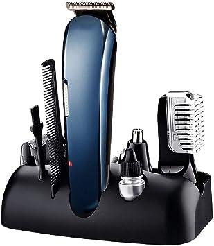 Recortadora barba eléctrica,cortadora cabello,5 en 1 maquinilla ...