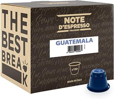 Note DEspresso Cápsulas de café de Guatemala exclusivamente compatibles con cafeteras Nespresso* - 100 Unidades de 5.6 g, Total - 560 g: Amazon.es: Alimentación y bebidas